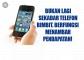Telefon Bimbit Mampu Jana Pendapatan Lumayan