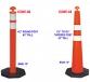 Lightweight plastic barrier/T top bollard post with black base/Propel interlocking Supercone 5 kg